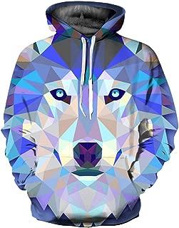 Men Stranger Things Sweatshirts Long-Sleeved Pullovers Hoodies Geometric Wolf 3D Hoodie Male Harajuku Sweatshirts