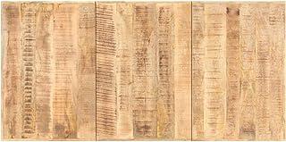 LINWXONGQP Dimensions : 200 x 100 cm (L x l) Plateaux de Table Dessus de Table Bois de manguier Solide 16 mm 200x100 cm