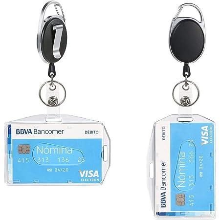 icloon 2Pcs Porte-badge avec Yoyo et Cordon Résistant a deux Façons de Porter pour Carte de Visite,Carte d'étudiants,Carte Bus de la Marque Protection de Vos Badges