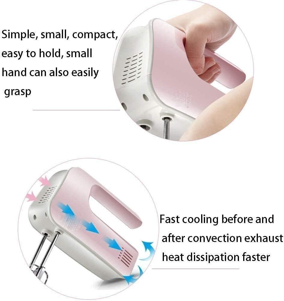 Electric Hand Mixer Klopper van het Ei 120W for Kitchen Baking Cake Mini Egg Cream Eten Beater (Color : Pink) Orange