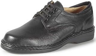 Zapatos Hombre CALZAMEDI,Piel Marron y Negro,Horma Ancho 14,Plantilla Extraible.Tallas Grandes. Mod.2007