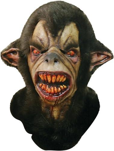GHOULISH Scary Halloween Latex Kopf-, Hals- und Gesichtsschutz Wulver Größelige Party Kostüm