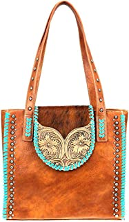 Trinity Ranch by Montana West Handbags Hair on Tooled Leather Concealed Carry Purses TR89G-8113