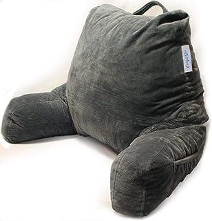 ComfortSpa - Cojín de lectura para cama de adulto, con brazos y bolsillos, respaldo para sentarse en la cama/sofá, para el reposacabezas GERD Heartburn