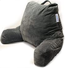 High Back Pillow Support Floor Bed Rest Black Lounger Micro Mink Plush Cushion