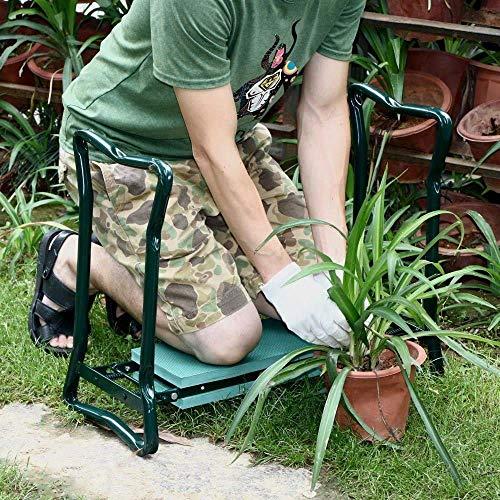 WEIZI Sedia da Giardino inginocchiatoio Sedile Imbottito e Cuscino da Giardino banco da Lavoro Pieghevole da Giardinaggio Giardiniere inginocchiatoio Sedia