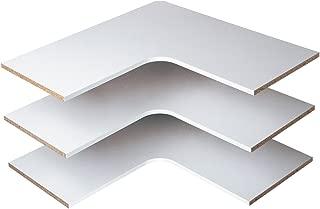 Easy Track Corner Shelves (3 Pack) 30