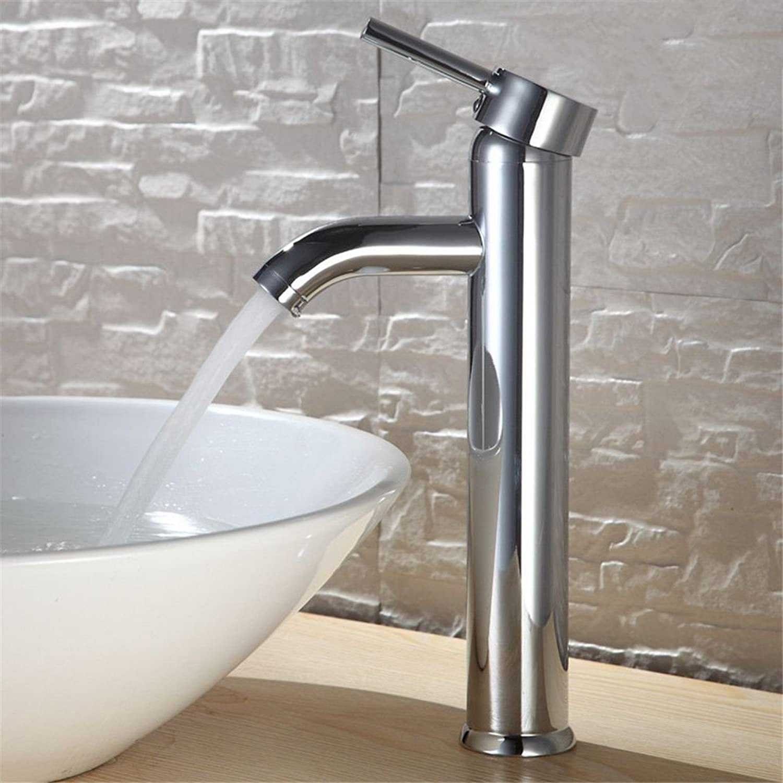 Bijjaladeva Bathroom Sink Vessel Faucet Basin Mixer Tap Morning Dew glass basin high-elbow fittings stainless steel basin surface basin wash basin cold water tap wash basins