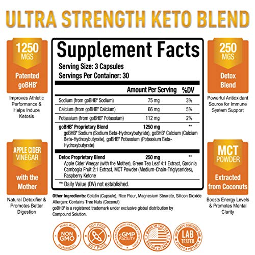 Premium Keto Pills + Apple Cider Vinegar Capsules with Mother - Utilize Fat for Energy with Ketosis, Boost Energy & Focus, Manage Cravings, Metabolism Support - BHB Keto Diet Pills for Women, Men 2