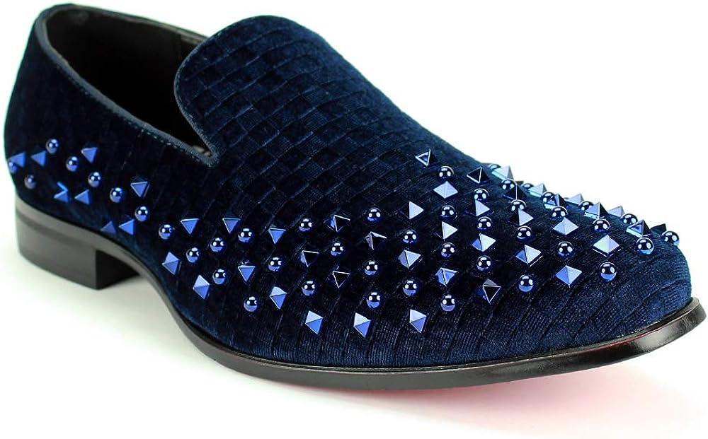 メーカー直送 AFTER MIDNIGHT 6868 Mens Velvet Checkered Velve Shoe with Smoker 全商品オープニング価格
