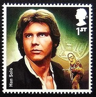 Han Solo Star Wars UK -Handmade Framed Postage Stamp Art 0259AM
