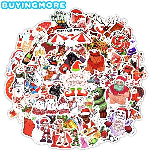 Kerstmis Stickers Schoorsteen Oude Man Sokken Sticker Pack Voor Kinderen Om Diy Vakantiekaarten Boxen Kamer Decor50 Stks