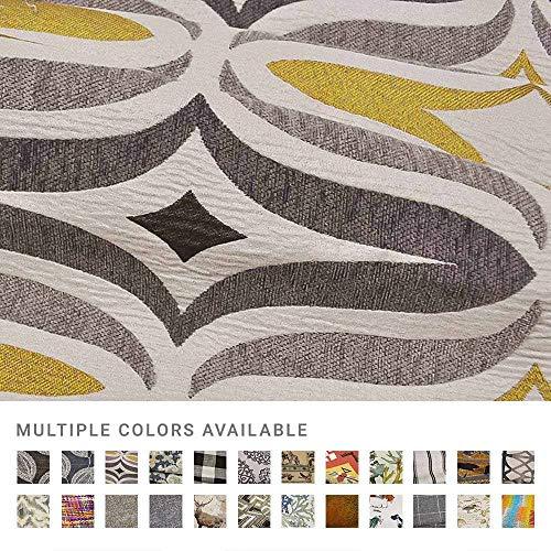 eLuxurySupply Fabric by The Yard - 100% Polyester Upholstery Sewing Fabrics - Barton Chinchilla Pattern