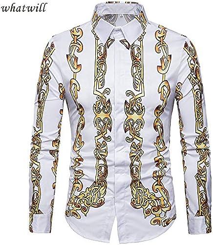 MAYUAN520 Chemises Chemises Homme 3D 2018 Hip hop Chemise Homme Casual Shirt Camiseta de Mode Masculine imprimé Camisas Para Hombre Mens Clothing,c423,M