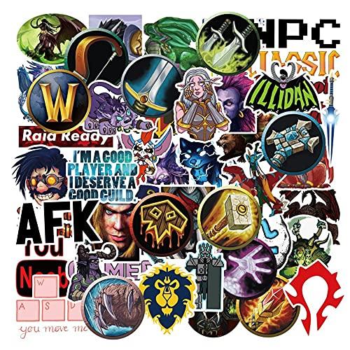 AXHZL World of Warcraft Tribal Hero Pegatina Reflectante para Coche y declaración para Ford Focus Honda Volkswagen 50 Piezas