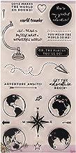 Hoja de sellos de silicona transparente Scrapbooking Estampado en relieve Sellado para bricolaje Álbum de fotos Álbumes de fotos Papel Tarjeta de cuaderno Fabricación Viajes por todo el mundo