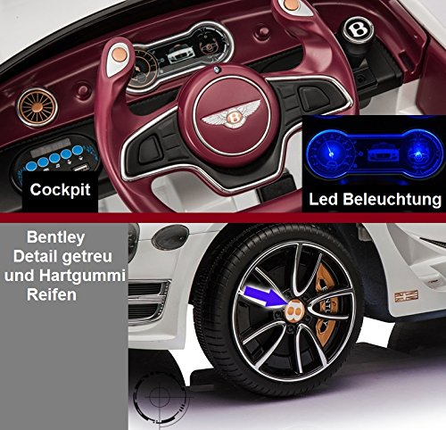 RC Auto kaufen Kinderauto Bild 5: Bentley Elektro Kinderauto/Ledersitz / 2 x 390 Motor / 2 x 6V4AH Batterie/Hartgummi Reifen/USB / SD / MP3 / Modell 2018*
