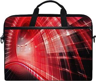 VICAFUCI Nuova Borsa per Laptop 15-15.4 Pollici Borsa del Portatile,Red Techno