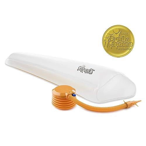 Zu Hause oder auf Reisen Wei/ß The Shrunks/® aufblasbarer Bettrand Rausfallschutz f/ür Kinder ab 2 Jahren Einzelpackung f/ür eine Bettseite 122x18x5 cm