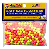 Atlas Mike's Assorted Bait Sac Floaters, Red/Yellow/Pink/Orange