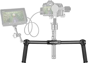 Neewer Dual Hand Grip for Neewer Crane M Zhiyun Crane M 3 Axis Hand Stabilizer Non-Slip Durable Camera Gimbal Space Aluminum Alloy Black