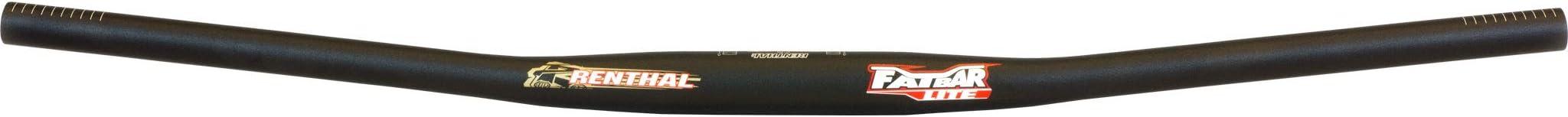 0x780mm Black Renthal FatBar Lite Zero Rise Handlebar: 31.8mm Fatbar Lite