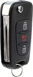 KeylessOption Keyless Entry Car Remote Flip Key Fob Ignition for Kia Soul Sportage with High Security Key Blade