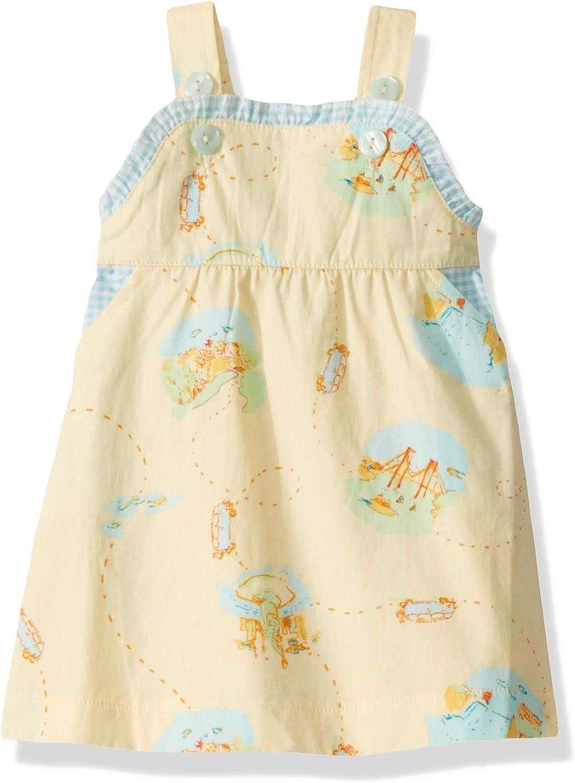 Munki Munki Girls' Baby Woven Ruffle Sun Dress