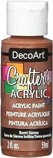 DecoArt Crafter's Acrylic Paint, 2-Ounce, Burnt Sienna