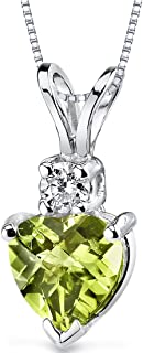 Best peridot necklace white gold Reviews