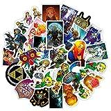 WYZNB The Legend Stickers of Zelda Graffiti-Aufkleber, wasserdicht, für Gepäck, Koffer, 50 Stück