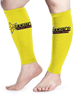 Calf Compression Sleeves Rockstar Energy Drink Leg Support Socks for Women Men 1 Pair