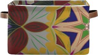 Paniers de rangement Boîte de rangement pour organisateur de placard de texture abstraite de vecteur avec poignée Rangemen...
