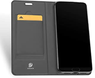 Flip cover for Huawei P20 Pro Men stand Leather Case shockproof cover with Card Slots and Wallet Black