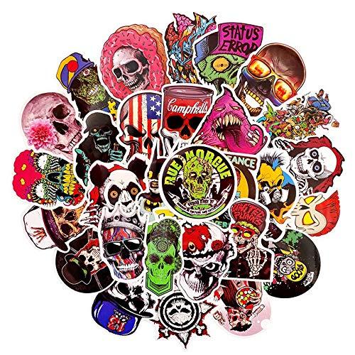 Conjunto de Terror Estilo de Dibujos Animados de Colores Cráneo Graffiti Pegatinas Para Motocicleta Skateboards Portátil Equipaje Motocicleta Coche 50pcs/
