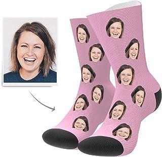 VEELU, Calcetines Personalizados Foto Calcetín Original Dibujos Estampados Alto