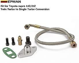 Epman for Toyota Supra 1JZGTE 2JZGTE 1JZ/2JZ Single Turbo Oil Feed Line Kit Flange Kit TK-WXB08