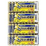 アルカリ乾電池40本セット【三菱単3電池LR6N/10S x4パック】水銀0 1.5V MITSUBISHI