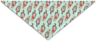 Smiling Sea Otters Cute Triangle Pet Scarf Dog Bandana Pet Collars For Pet Cats And Puppies