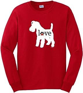 ThisWear Schnauzer Love Dog Paw Prints Long Sleeve T-Shirt