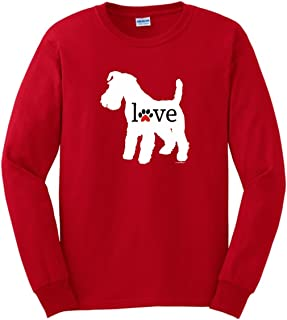 ThisWear Schnauzer Love Dog Paw Prints Long Sleeve T-Shirt