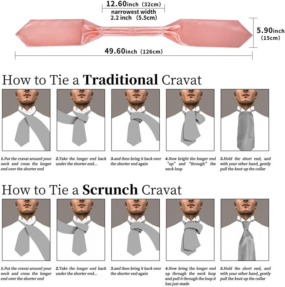WODMB Men's Vintage Pink Solid Jacquard Woven Silk Tie Cravat Scrunch British Style Gentleman Necktie (Color : Pink, Size : One Size)