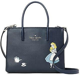 Kate Spade New York Alice in Wonderland Shopper Crossbody Small Bag Navy Blue