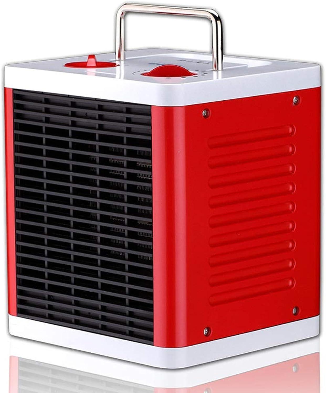 GXDHOME Calefactores Calentador, hogar Dormitorio Oficina Calentadores eléctricos de cerámica de calefacción rápida PTC de bajo Consumo (Rojo)