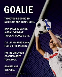 """Posters and Prints by Magnetic Impressions Unframed Soccer Goalie Female 8"""" x 10"""" Poster Print"""