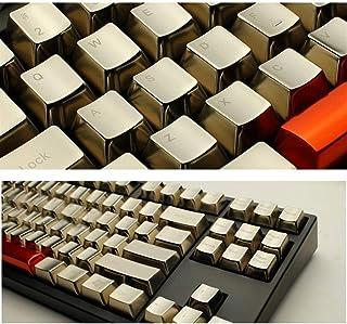 Keycaps メカニカルキーボードメタルキーキャップシルバーゴールド37キー/ 14 / Fエリア/機能エリア/ファンクションエリア/ラージキーポジション/番号(カラー:ゴールドF1-F12、サイズ:11) (色 : Silver s 14 ...