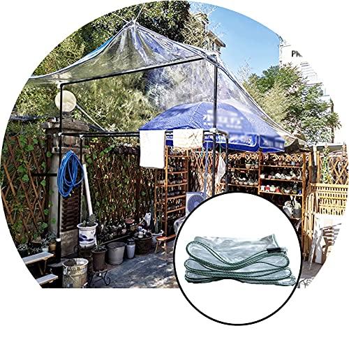 ZHANWEI Lona Impermeable Transparente, Transparente CLORURO DE POLIVINILO Cortinas De Vidrio Suave, Personalizable Espesar Lona De Plástico, Usado para Pabellón Plantas