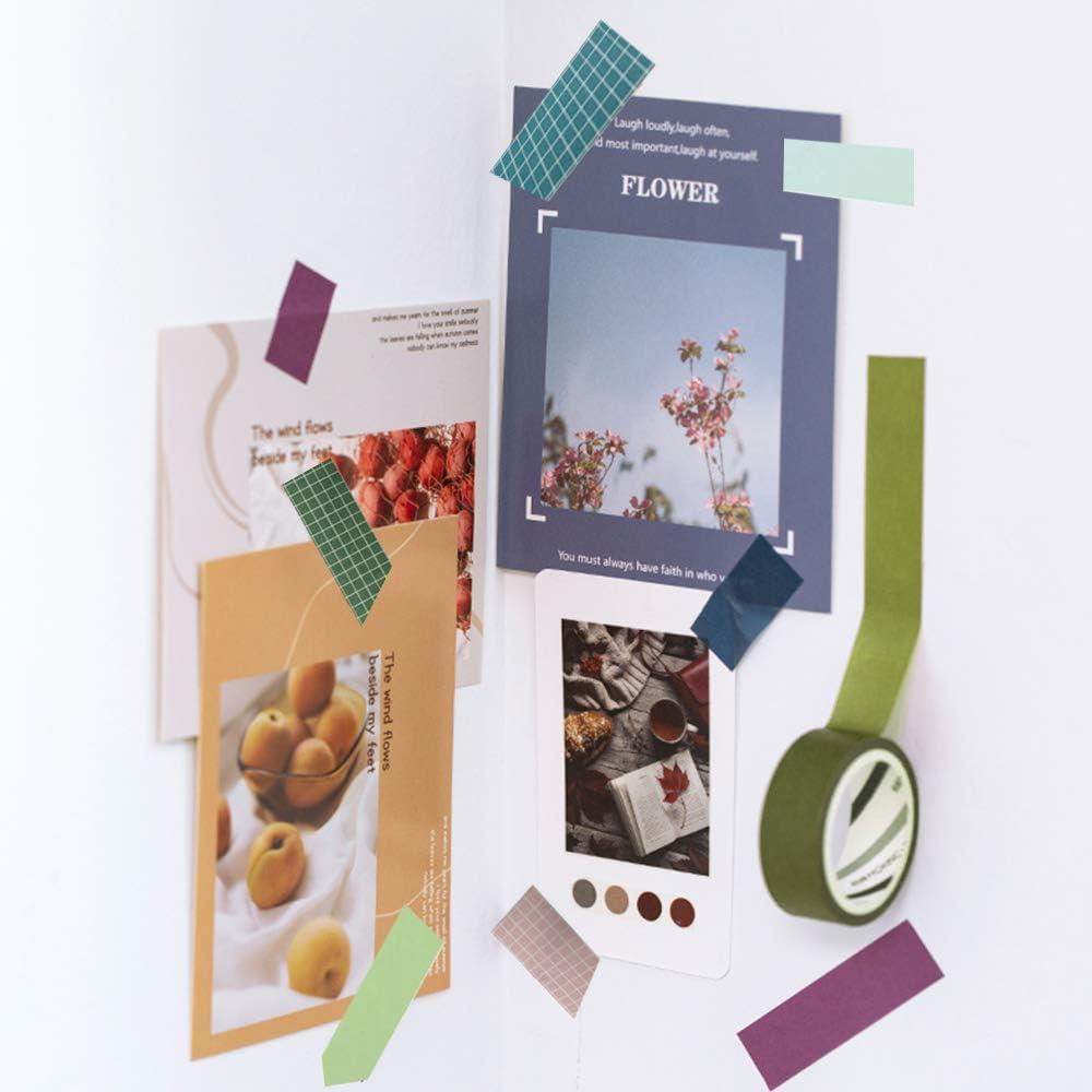 Confezioni per Diario 8 Rotoli Washi Tapes Set Larghezza: 10mm, 15mm, Foresta Washi Tapes Vintage Rotolo da 3m Calendari N\O HvxMot Washi Tape Set Colorati Decorativo con 1 Scatola
