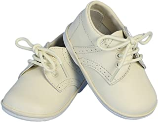 Boys Ivory Stitch Leather Christening Shoes 1 Baby-7 Toddler