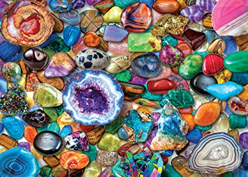 Crystals and Gemstones 1000 Piece Jigsaw Puzzle